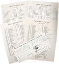 Golf Collectibles:Autographs, 1986 Jack Nicklaus Signed Official Masters Tournament Scorecard& Pairing Sheets. Unavailable to those unaffiliated with th...