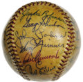 Autographs:Baseballs, 1955 Brooklyn Dodgers Team Signed Baseball. Arguably the most important and desirable of all post-war team spheres is prese...
