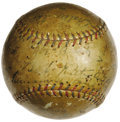 Autographs:Baseballs, 1923 New York Yankees Team Signed Baseball. A bold black fountainpen notation on this OAL (Johnson) ball announces for the...