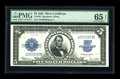 Large Size:Silver Certificates, Fr. 282 $5 1923 Silver Certificate PMG Gem Uncirculated 65.Examination of this Gem reveals a perfectly printed design and o...