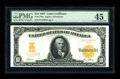 Large Size:Gold Certificates, Fr. 1170a $10 1907 Gold Certificate PMG Choice Extremely Fine 45. Three folds preclude this otherwise New note from a full C...