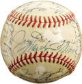 Autographs:Baseballs, 1951-52 New York Yankees Team Signed Baseball with Marilyn Monroe. After setting a World Record mark of $191,200 for Autogr...