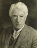 Autographs:Photos, 1930 Kenesaw Mountain Landis Signed Photograph. Arrestingphotographic portrait bespeaks the stern, no-nonsense charactero...