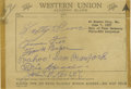 Autographs:Others, 1957 Philadelphia Athletics Hall of Famers Signed Sheet with Foxx, Baker, Speaker. Both of Connie Mack's great dynasties ar...