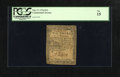 Colonial Notes:Continental Congress Issues, Continental Currency February 17, 1776 $2/3 PCGS Fine 15. Thisboldly signed and numbered Fugio fractional note is well prin...