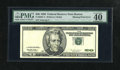 Error Notes:Missing Third Printing, Fr. 2083-A $20 1996 Federal Reserve Note. PMG Extremely Fine 40.. The third print is completely missing on this lightly circ...