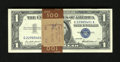 Small Size:Silver Certificates, Fr. 1619 $1 1957 Silver Certificates. Original Pack of 100 Crisp Uncirculated.. The strap surrounding this pack hails from t...