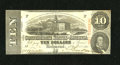 Confederate Notes:1863 Issues, T59 $10 1863. Ths 2nd Series $10 does not show any handling. ChoiceCrisp Uncirculated....