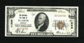 National Bank Notes:Missouri, Saint Louis, MO - $10 1929 Ty. 1 National City Bank Ch. # 11989.This piece has solid margins though the bottom is a bit...