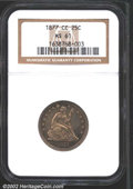 Seated Quarters: , 1877-CC 25C MS61 NGC. ...