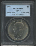 "Eisenhower Dollars: , 1976 $1 Type Two MS65 PCGS. The latest Coin World ""Trends"" ..."