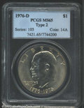 """Eisenhower Dollars: , 1976-D $1 Type Two MS65 PCGS. The latest Coin World """"Trends"""" ..."""