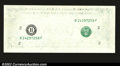 Error Notes:Missing Face Printing (<100%), Fr. ? $1 Federal Reserve Note. Gem Crisp Uncirculated. A ...