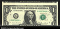 Error Notes:Skewed Reverse Printing, Fr. 1913-G* $1 1985 Federal Reserve Note. CGA About ...