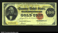 Large Size:Gold Certificates, Fr. 1210 $100 1882 Gold Certificate Fine-Very Fine. When ...
