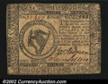 Colonial Notes:Continental Congress Issues, Continental Currency July 22, 1776 $8 Extremely Fine. A ...