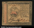 Colonial Notes:Continental Congress Issues, Continental Currency January 14, 1779 $35 Choice About New....
