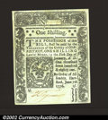Colonial Notes:Connecticut, Connecticut June 7, 1776 1s Gem New. An absolutely ...