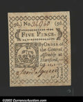 Colonial Notes:Connecticut, Connecticut October 11, 1777 5d Choice New There is a as ...