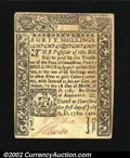Colonial Notes:Connecticut, Connecticut July 1, 1780 40s Choice New. Canceled with a ...