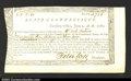 Colonial Notes:Connecticut, Connecticut Treasury Office 1780 A high grade certificate ...