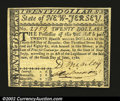 Colonial Notes:New Jersey, New Jersey June 9, 1780 $20 Choice About New A rare note, ...