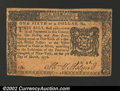 Colonial Notes:New York, New York March 5, 1776 $1/6 Choice Very Fine. This really ...