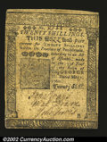 Colonial Notes:Pennsylvania, Pennsylvania May 1, 1760 20s Choice Very Fine This piece ...