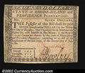 Colonial Notes:Rhode Island, Rhode Island July 2, 1780 $7 Very Choice New. Fully signed,...