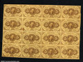 Fractional Currency:First Issue, Fr. 1230 5c First Issue Block of Sixteen. This block ...