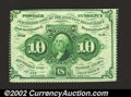 Fractional Currency:First Issue, Fr. 1241 10c First Issue New. The top edge is mostly ...
