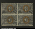 Fractional Currency:Second Issue, Fr. 1232 5c Second Issue Block of Four Choice About New. A ...