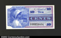 Military Payment Certificates: , Series 661 10c Replacement Note Gem New. A beautiful ...