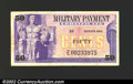Military Payment Certificates: , Series 692 50c Replacement Note Very Fine. Twenty-five ...
