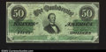 Confederate Notes:1862 Issues, T50 $50 1862. A most attractive example of this design, as ...
