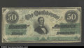 Confederate Notes:1862 Issues, T50 $50 1862. A very nice, well margined example with ...