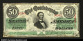 Confederate Notes:1863 Issues, T57 $50 1863. A nice note with a bright red and green ...