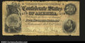 Confederate Notes:1864 Issues, T64 $500 1864. A bit frayed at the top and bottom, and ...