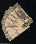 Confederate Notes:1864 Issues, T68 $10 1864. Ten consecutive examples, all grading ...