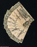 Confederate Notes:1864 Issues, T68 $10 1864. Eleven consecutively serial numbered ...