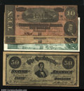 Confederate Notes:Group Lots, Four Different Confederate Advertising Notes. A group of ...