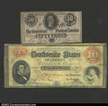 Confederate Notes:Group Lots, A Pair of Confederates.