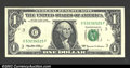 Error Notes:Inverted Reverses, Fr. 1924-C $1 1999 Federal Reserve Note. About Uncirculated....