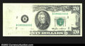 Error Notes:Missing Face Printing (<100%), Fr. 2075-B $20 1985 Federal Reserve Note. Extremely Fine. ...