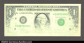Error Notes:Missing Face Printing (<100%), Fr. ? $1 Federal Reserve Note. Gem Crisp Uncirculated. ...