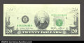 Error Notes:Missing Face Printing (<100%), Fr. 2075-B $20 1985 Federal Reserve Note. Crisp Uncirculated....