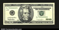 Error Notes:Skewed Reverse Printing, Fr. 2084-J $20 1996 Federal Reserve Note. Gem Crisp ...