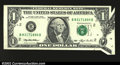 Error Notes:Foldovers, Fr. 1918-B $1 1993 Federal Reserve Note. About Uncirculated....