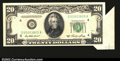 Error Notes:Attached Tabs, Fr. 2060-D $20 1950A Federal Reserve Note. Choice Crisp ...