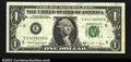 Error Notes:Ink Smears, Fr. 1915-E $1 1988A Federal Reserve Note. Crisp Uncirculated....